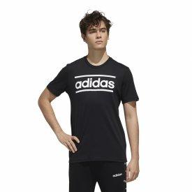 Herren Logo Linear T-Shirt schwarz