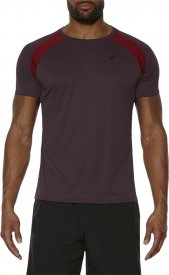 SHORT SLEEVE TECH TOP RIOJA RED