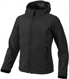 GIRL SOFTSHELL JACKET NERO