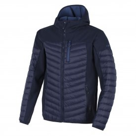 MAN FIX HOOD JACKET BLACK BLUE