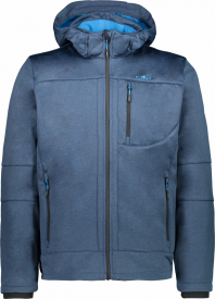 MAN JACKET ZIP HOOD BLUE INK MEL.-RIVER