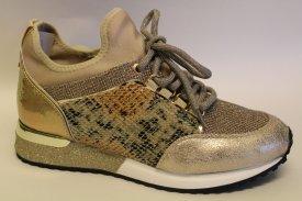 La Strada Damen Sneaker Cracked Gold