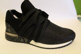 La Strada Damen Sneaker schwarz/ Glitzer