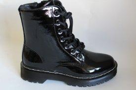 Damen Stiefel schwarz Lack