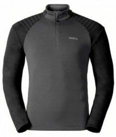 Midlayer 1/2 zip PACT odlo graphite grey - black