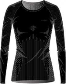 Shirt l/s crew neck EVOLUTION black - odlo graphite grey