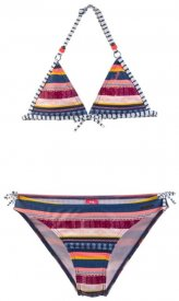 AISHA JR triangle bikini Beet Red