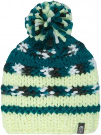 NANNY KNIT BEANIE RAVE GREEN/ZEAL TEAL