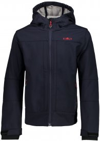 BOY  SOFTSHELL JACKET FIX HOOD B.BLUE-ARGENTO