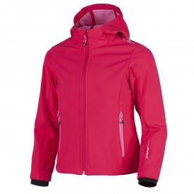 GIRL SOFTSHELL JACKET IBISCO-ROSE