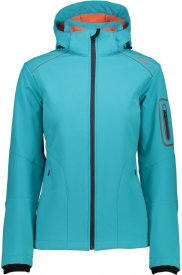 WOMAN SOFTSHELL JACKET ZIP HOOD CURACAO-BITTER