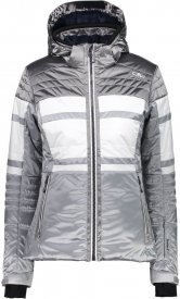 WOMAN ZIP HOOD JACKET ARGENTO