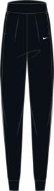 W NK BLISS VCTRY PANT BLACK/WHITE