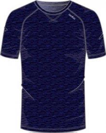 Shirt s/s crew neck REVOLUTION navy new melange