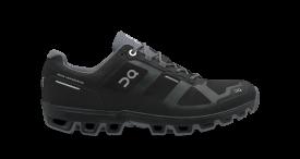 On Damenlaufschuhe Cloudventure Waterproof Black   Graphit