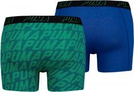 PUMA OPTICAL LOGO AOP BOXER 2P blue / green
