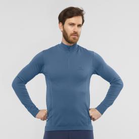 Herren Midlayer Shirt EXPLORE SEAMLESS HALF ZIP M