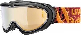 Uvex Skibrille Comanche Top schwarz matt / FM gold